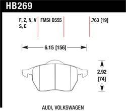 Hawk Performance - Hawk Performance HB269S.763