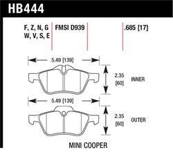 Hawk Performance - Hawk Performance HB444N.685 HP+