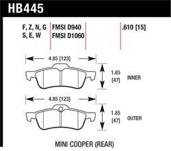 Hawk Performance - Hawk Performance HB445G.610 DTC-60
