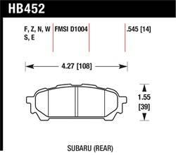 Hawk Performance - Hawk Performance HB452S.545 HT-10