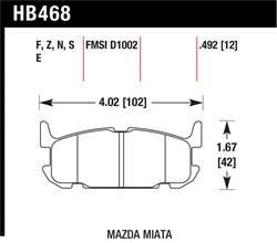 Hawk Performance - Hawk Performance HB468S.492 HT-10