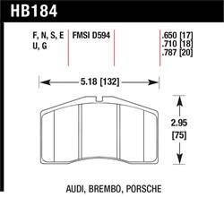 Hawk Performance - Hawk Performance HB184S.650 HT-10