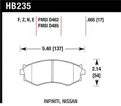 Hawk Performance - Hawk Performance HB235N.665 HP Plus