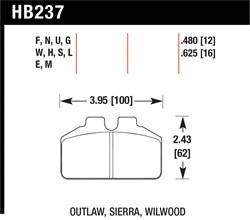 Hawk Performance - Hawk Performance HB237G.480 DTC-60