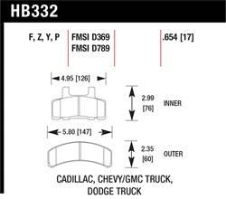 Hawk Performance - Hawk Performance HB332F.654 HPS