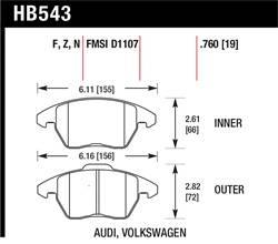 Hawk Performance - Hawk Performance HB543U.760 DTC-70 - Image 1
