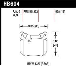 Hawk Performance - Hawk Performance HB604W.598 - DTC-30